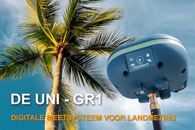 De UNI-GR1. Digitale meetsysteem voor landmeting.
